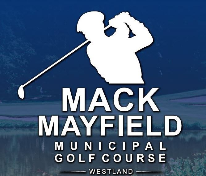 Golf Course logo with blue background