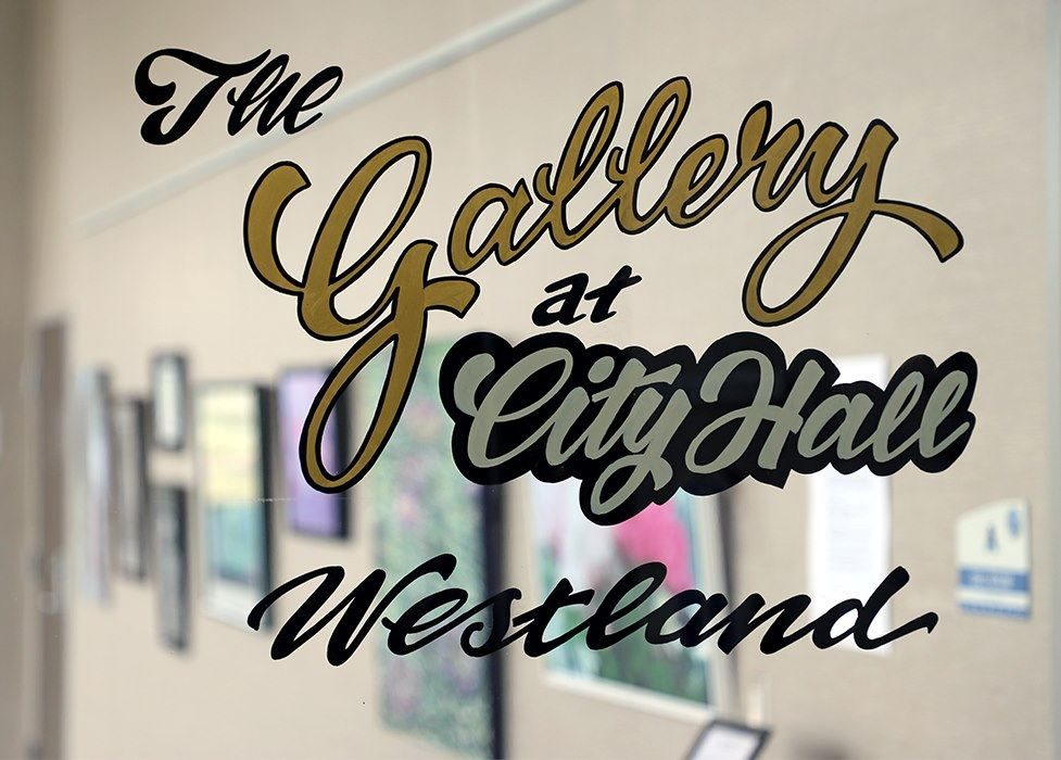 the gallery logo blurred background